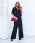 Calca Pantalona em Satin com Bolso Donna Ritz
