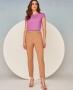 Calca Skinny em Sarja com Cinto de Perolas Unique Chic