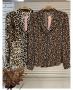 Camisa Animal Print em Crepe com Botoes Donna Ritz