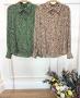 Camisa Animal Print em Crepe Donna Ritz