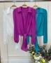 Camisa Cropped com Amarracao Donna Ritz