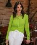 Camisa Cropped com Detalhe Torcido Donna Ritz