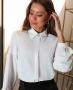 Camisa em Crepe com Manga Bufante Donna Ritz
