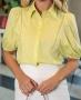 Camisa em Tricoline com Entremeios Donna Ritz