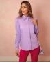 Camisa em Tricoline com Manga Bufante Donna Ritz