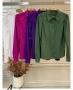 Camisa em Tricoline com Mangas Bufantes Donna Ritz