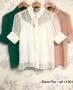 Camisa Manga Curta com Pregas Doce Flor