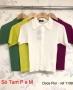 Camisa Manga Curta em Tricot com Gola Doce Flor