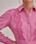 Camisa Manga Longa com Renda Unique Chic