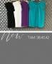 Regata Basica em Crepe com Detalhe de Renda Donna Ritz