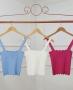 Regata em tricot com Decote Ondulado Milalai