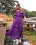 Saia Longa em Chiffon com Camadas Donna Ritz