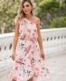 Saia Midi Floral Assimetrica Donna Ritz