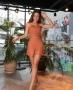 Shorts em Couro Sintetico com Elastico Donna Ritz