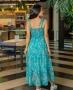 Vestido Longo Floral com Alca de Amarrar Milalai