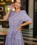 Vestido Midi em Crepe com Estampa Liberty Donna Ritz