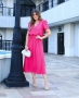Vestido Midi em Crepe com Fenda Donna Ritz