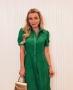 Vestido Midi em Laise Bordada Donna Ritz