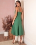 Vestido Midi em Linho com Detalhe de No Donna Ritz