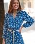 Vestido Midi Floral com Cinto Donna Ritz