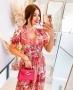 Vestido Midi Floral com Decote V Doce Flor