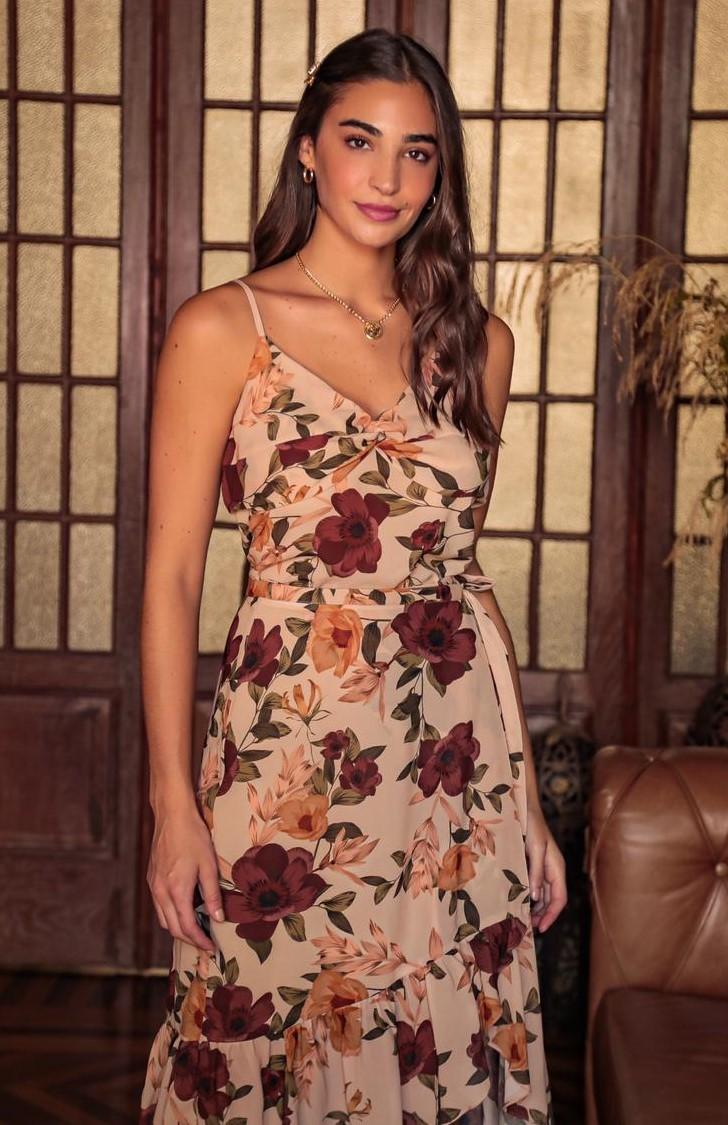 Blusa de Alcinha com Estampa Floral e com Detalhe no Decote Donna Ritz