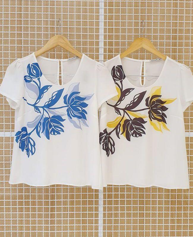 Blusa Em Crepe Estampa Floral Milalai