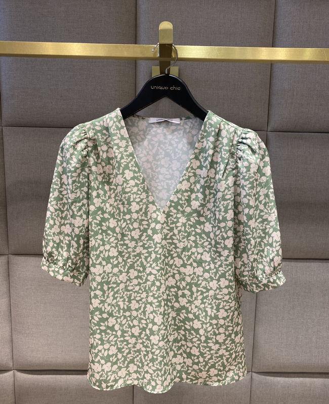 Blusa Estampa Floral Decote em V Unique Chic