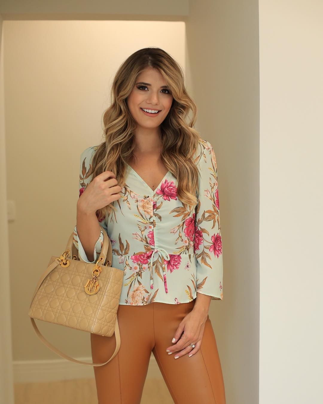 Blusa Floral Ziper Lateral Donna Ritz