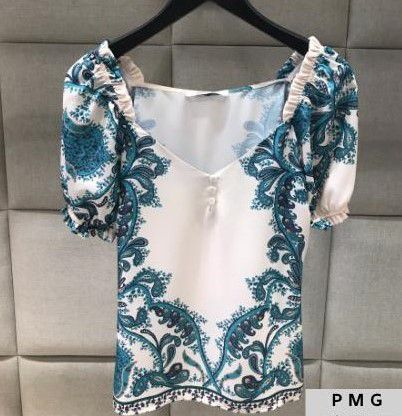 Blusa Lenco Cashmer e Babado Unique Chic