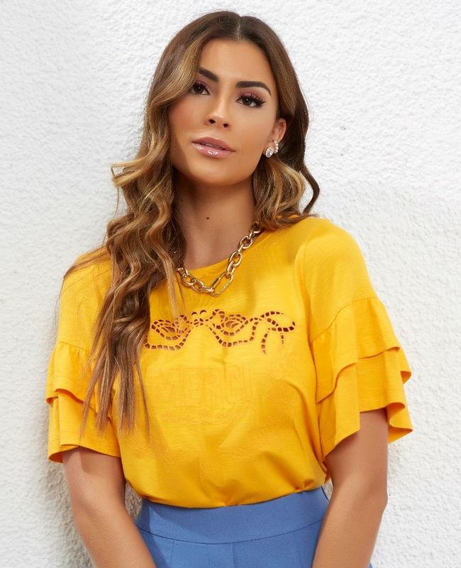 Blusa Malha Bordada Merci Unique Chic