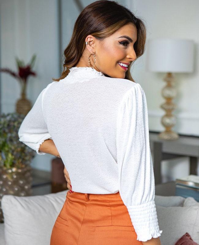 Blusa Malha Lastex Unique Chic