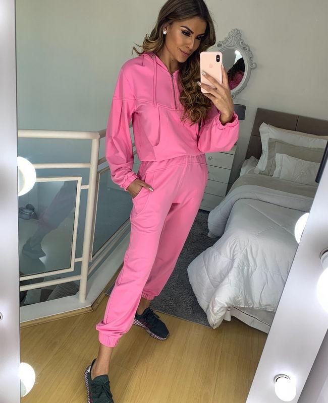 Blusa Moletinho Capuz Unique Chic