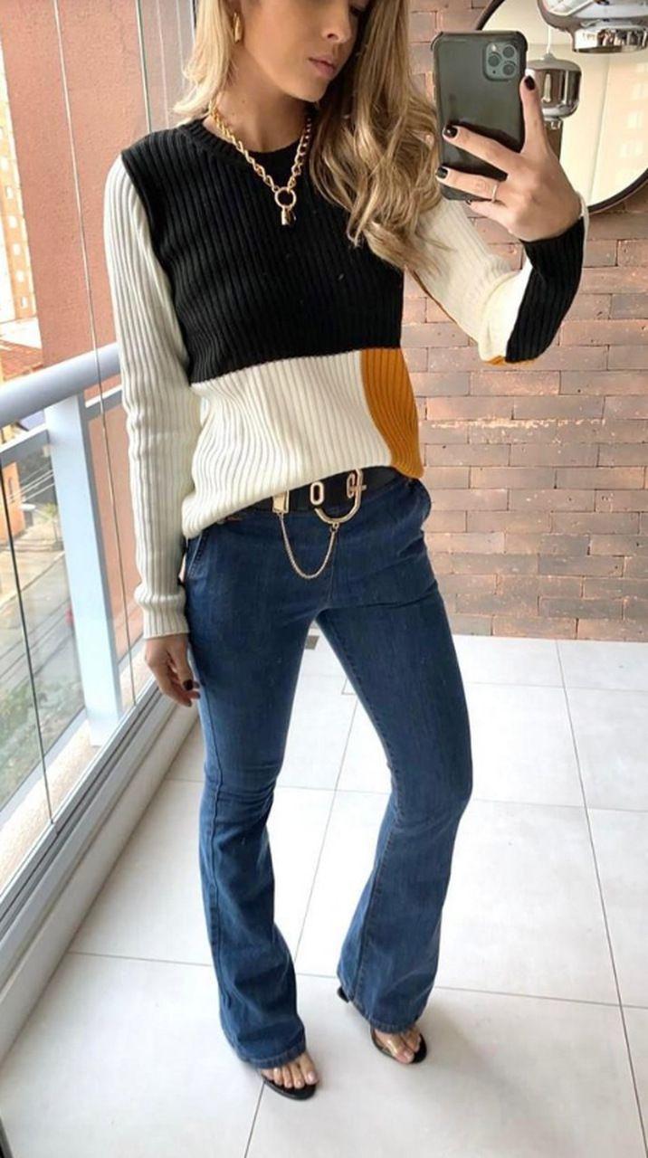 Blusa Tricot Mix Nanaminze