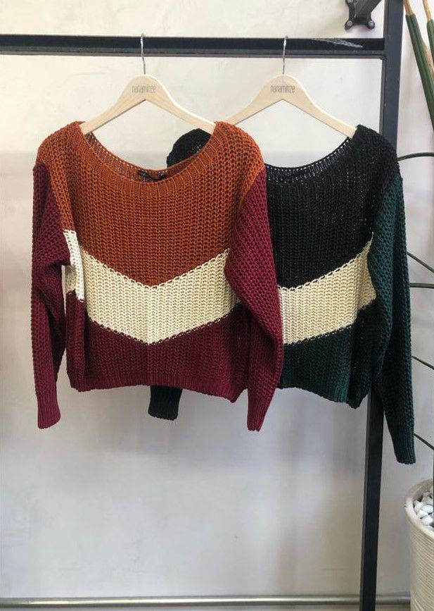 Blusa Tricot Nanaminze Tricolor