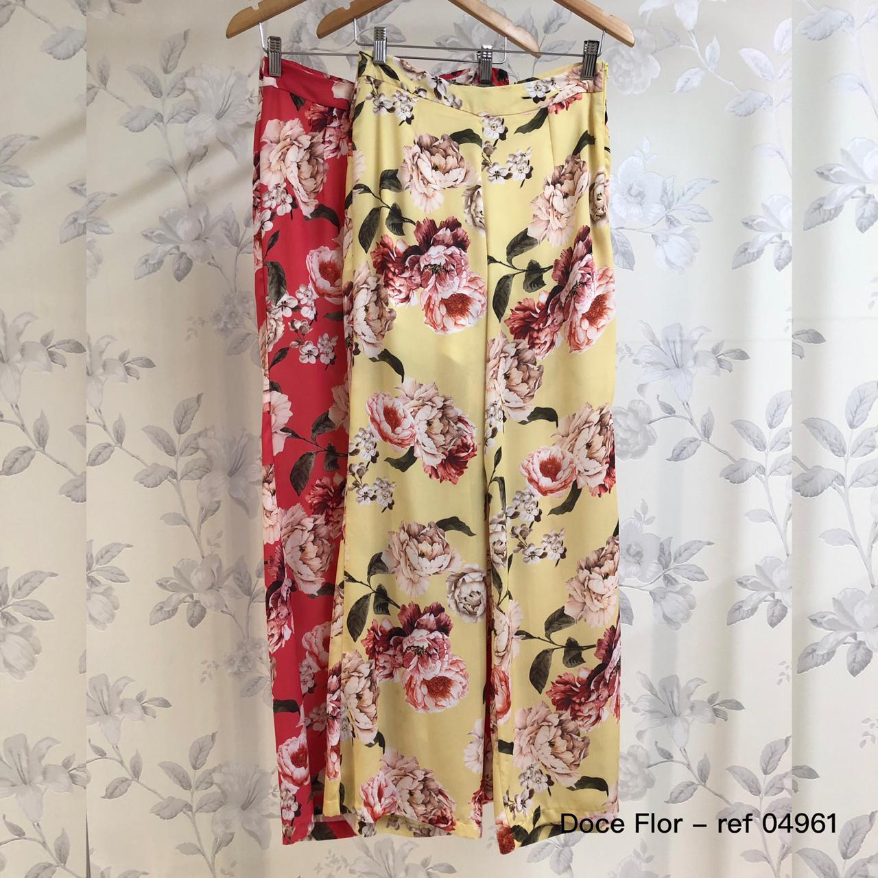 Calca Floral Pantalona Doce Flor