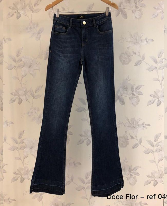 Calca Jeans Flare Doce Flor_1