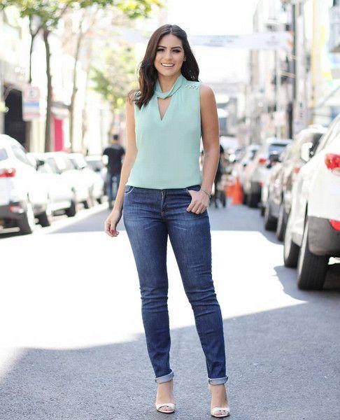 Calca Jeans Skinny Basica Doce Flor