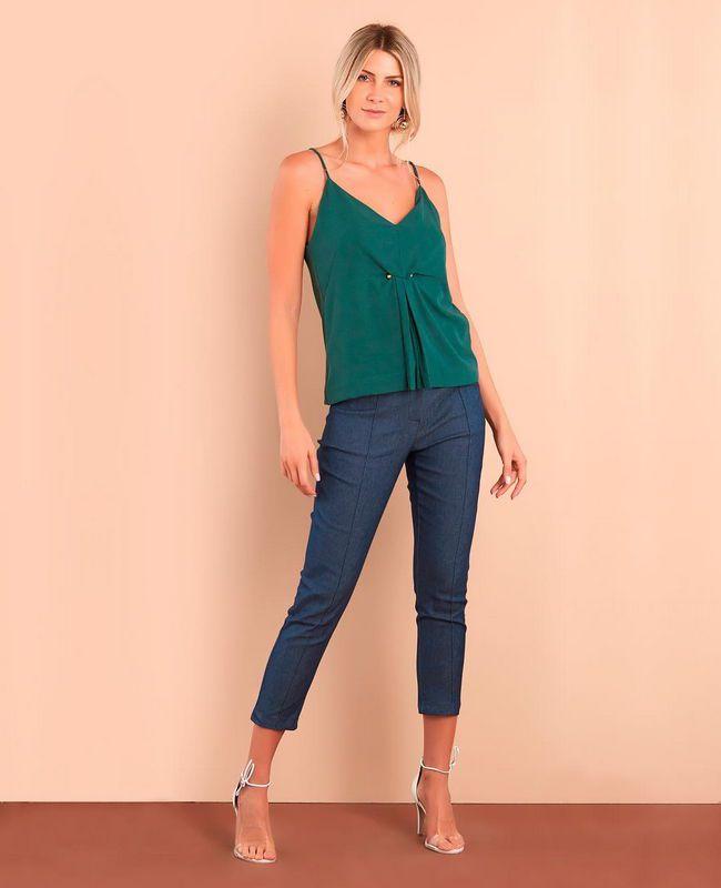 Calca Jeans Skinny Cinto Unique Chic