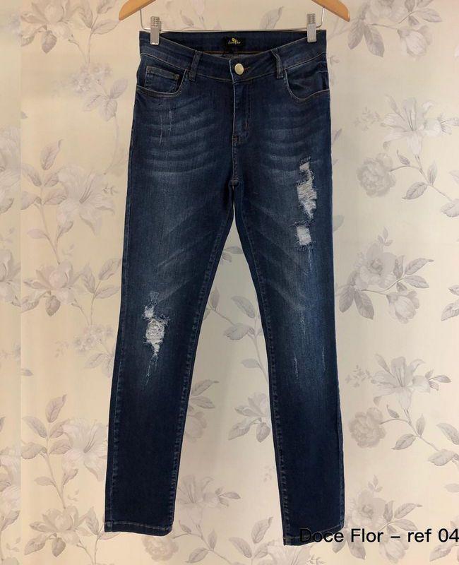 Calca Jeans Skinny Doce Flor