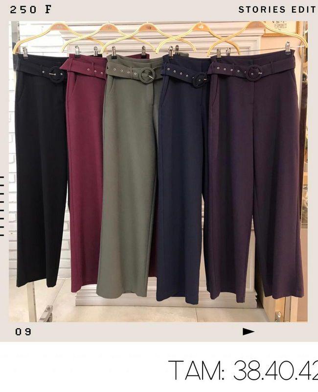 Calca Pantalona com Cinto Donna Ritz
