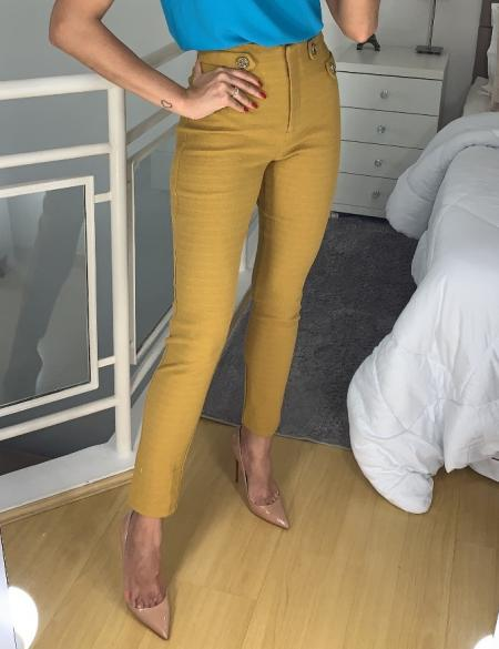 Calca Skinny Botoes Unique Chic