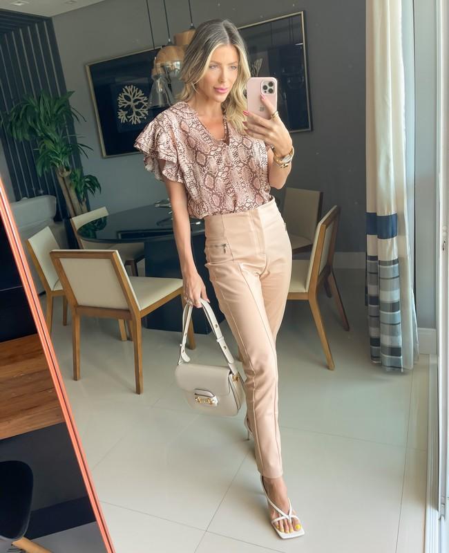 Calca Skinny com Detalhe de Ziper Aparente Unique Chic