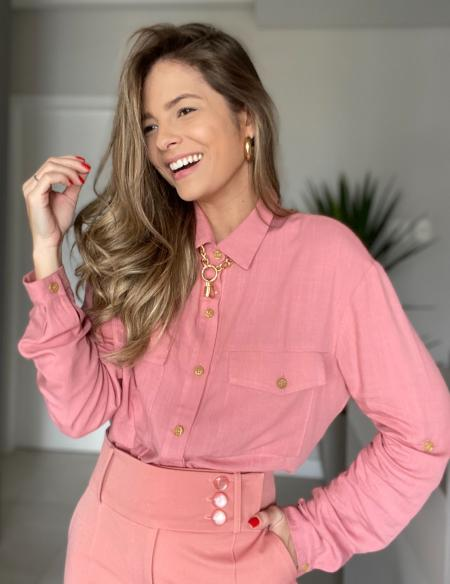 Camisa Basic Botoes Unique Chic