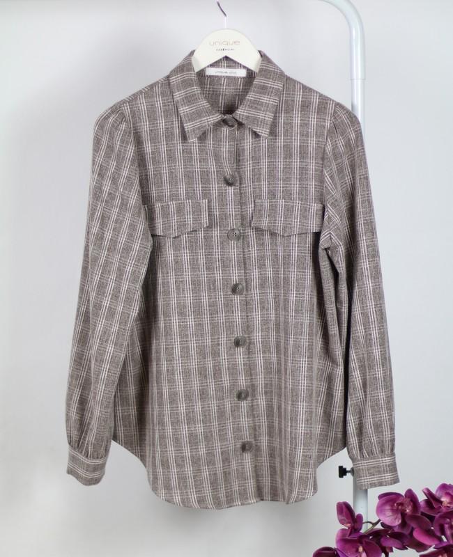 Camisa Xadrez Manga Longa Unique Chic
