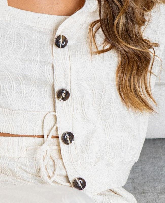 Casaqueto Malha Texturizada Unique Chic