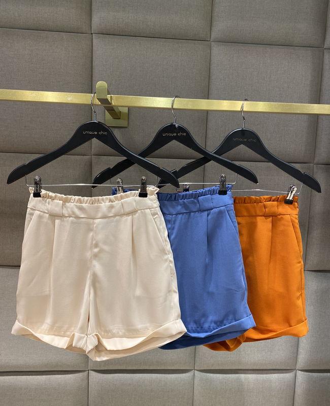 Shorts Crepe Babados Cintura Unique Chic