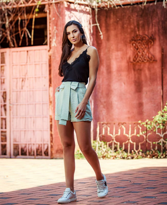 Shorts Crepe Laco Lily Belle