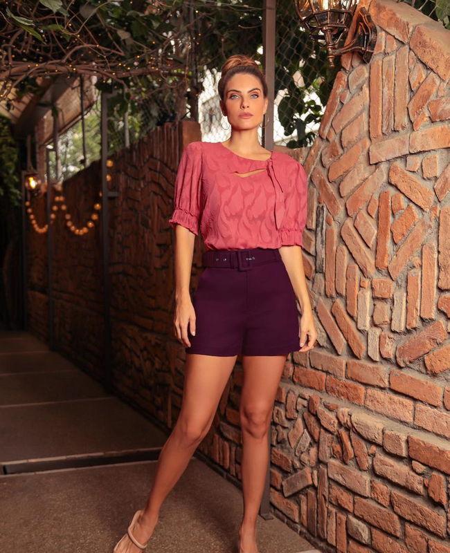 Shorts Evase com Cinto Donna Ritz