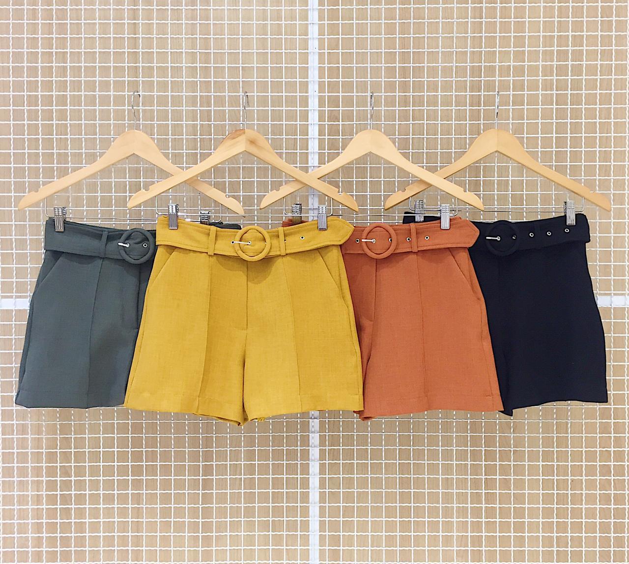 Shorts Linho Com Cinto Milalai